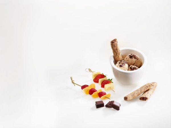 dessert avec des goutines cacao & noisettes