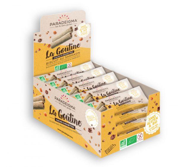 presentoir snacking goutine cacao & noisettes paradeigma