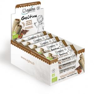 presentoir snacking goutine cacao & noisettes aglina