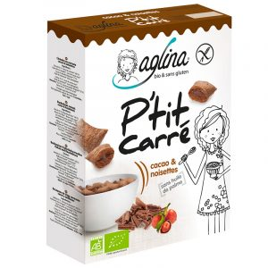 cereales ptit carre cacao & noisettes aglina