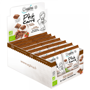 presentoir cereales snacking ptit carre cacao & noisette