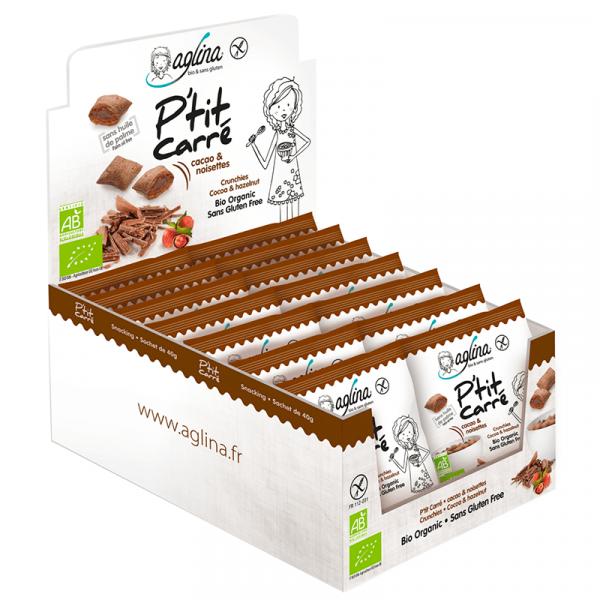presentoir cereales snacking ptit carre cacao & noisette