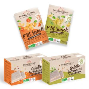 Pack apéritif galette sarrasine-5 céréales-snack romarin basilic-tomate basilic